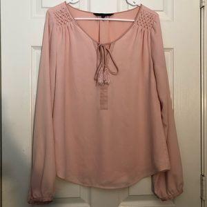 White House Black Market Pink Tassel Pullover